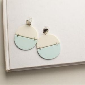 Acrylic geometric large statement earrings